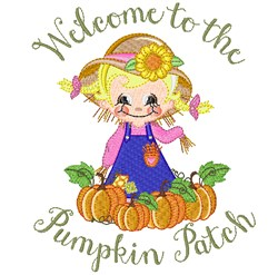 Welcome To The Pumpkin Patch embroidery design