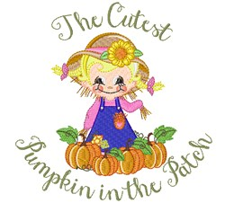 The Cutest Pumpkin embroidery design