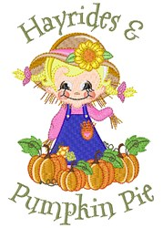 Hayrides & Pumpkin Pie embroidery design
