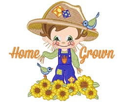 Home Grown Scarecrow embroidery design