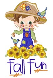 Fall Fun Scarecrow embroidery design