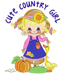 Sweet Scarecrow & Duck embroidery design