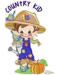 Scarecrow, Birds & Pumpkins! embroidery design