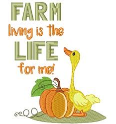 Adorable Duck & Pumpkin embroidery design
