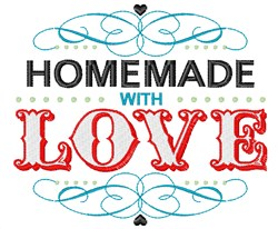Homemade With Love embroidery design