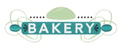 Bakery Logo embroidery design