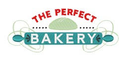 The Perfect Bakery embroidery design