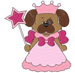 Pretty Pink Puppy Princess! embroidery design