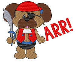 Puppy Pirate embroidery design
