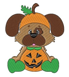 Halloween Puppy Pumpkin embroidery design