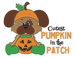 Halloween Puppy Pumpkin embroidery design
