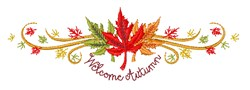Welcome Autumn! embroidery design