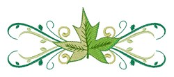Leaf Swirls embroidery design
