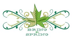 Bring On Spring Border embroidery design