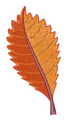 Fall Elm Leaf embroidery design