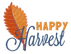Happy Harvest Fall Leaf embroidery design