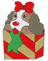 Adorable Christmas Puppy embroidery design