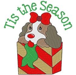 Tis The Season Puppy embroidery design