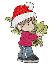 Christmas Boy embroidery design