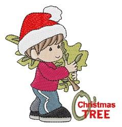 Christmas Tree Boy embroidery design