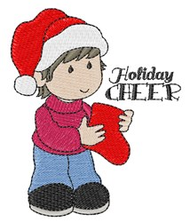 Holiday Cheer Boy embroidery design