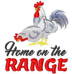 Country Rooster & Hen embroidery design