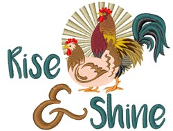 Rise & Shine Birds embroidery design