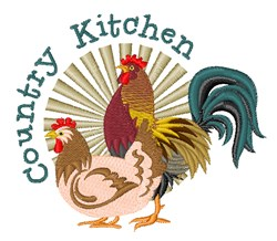 Country Kitchen Birds embroidery design