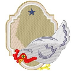 Country Chicken & Frame embroidery design
