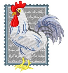 Country Chicken Stamp embroidery design