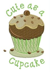 Cute As Cupcake embroidery design
