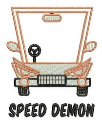 Speed Demon embroidery design