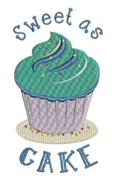 Sweet As Cake embroidery design