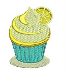 Lemon Cupcake embroidery design