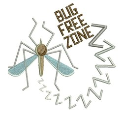 Bug Free Zone embroidery design