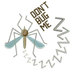 Dont Bug Me embroidery design