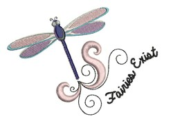 Fairies Exist embroidery design