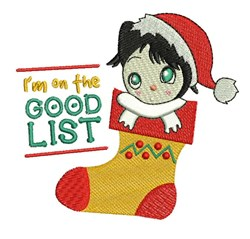 The Good List embroidery design
