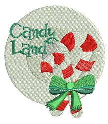 Candy Land embroidery design