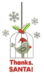 Thanks Santa embroidery design