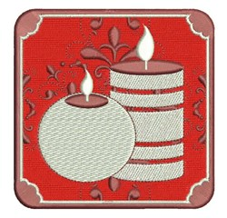 Xmas Candles embroidery design