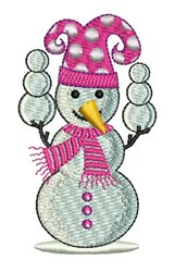 Snowman Jester embroidery design