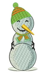 Snowman Snowball embroidery design