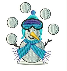 Juggle Snowballs embroidery design