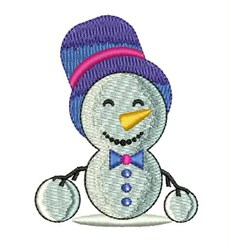 Snow Man embroidery design
