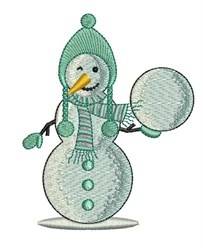 Snowball Snowman embroidery design