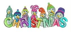 Christmas Snowmen embroidery design
