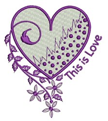This Is Love embroidery design
