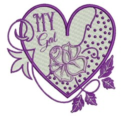 My Gal embroidery design