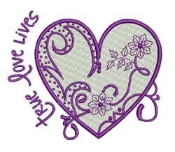 True Love Lives embroidery design